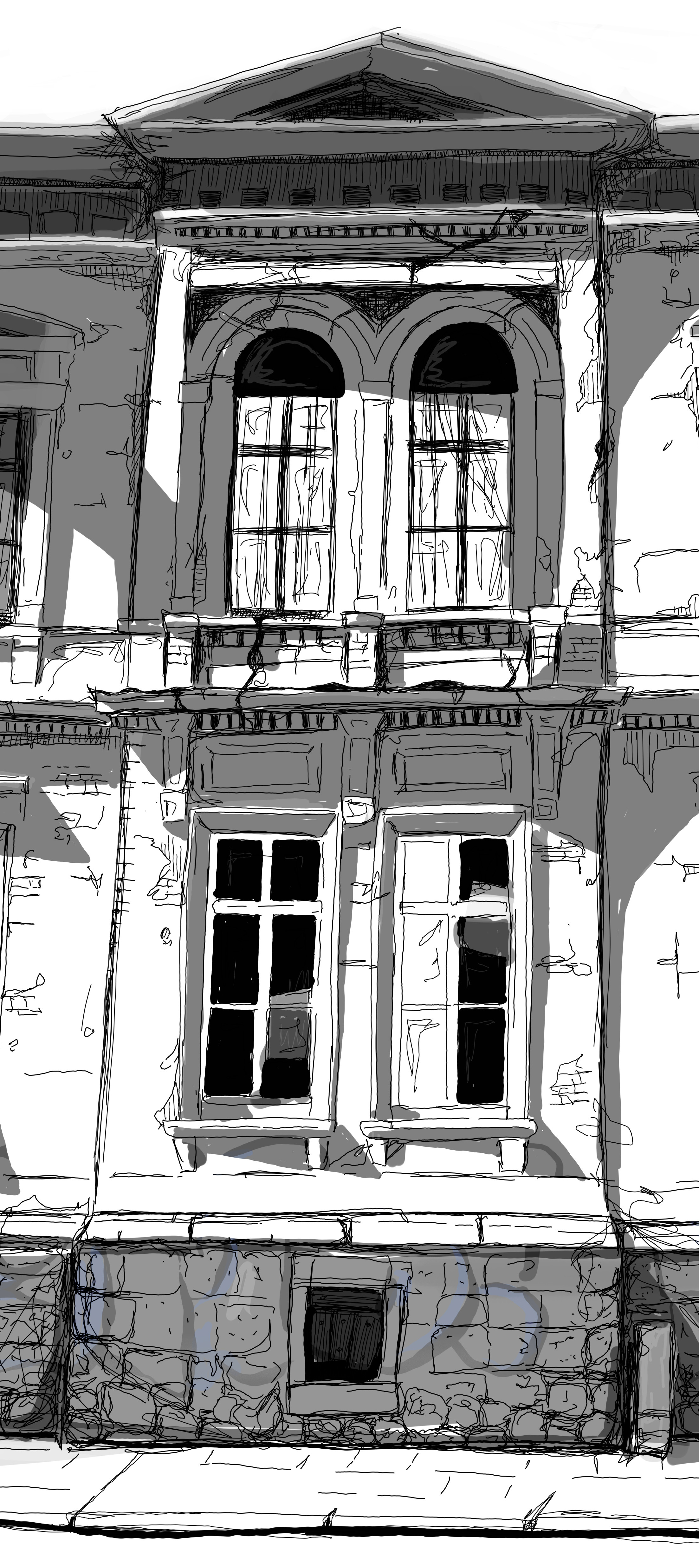 final texture drawing, close up