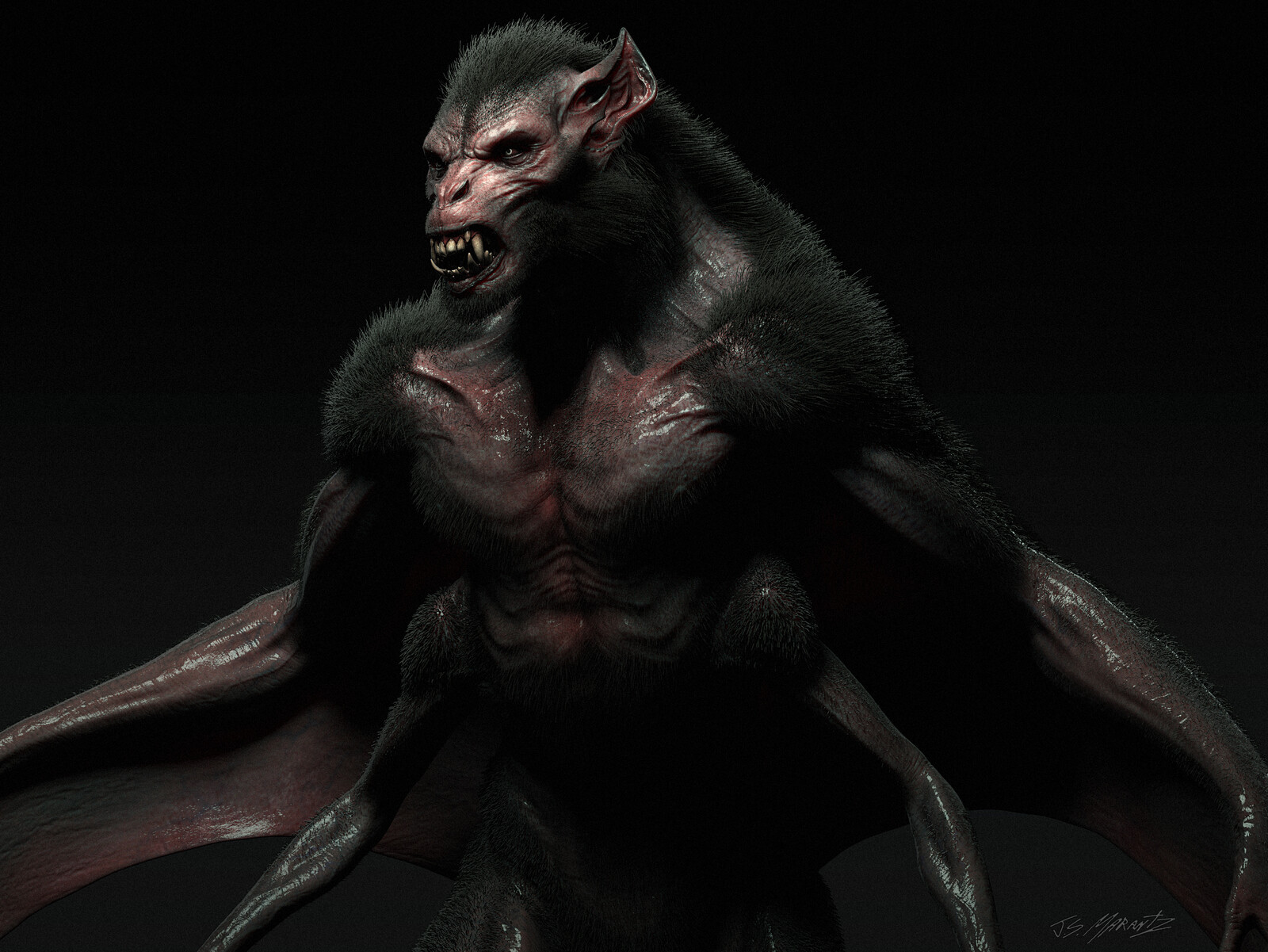 Concept Art Workshop Demo: Bat Creature Portrait