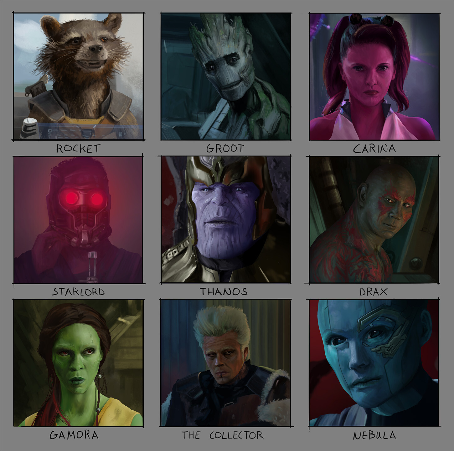 Guardians characters.