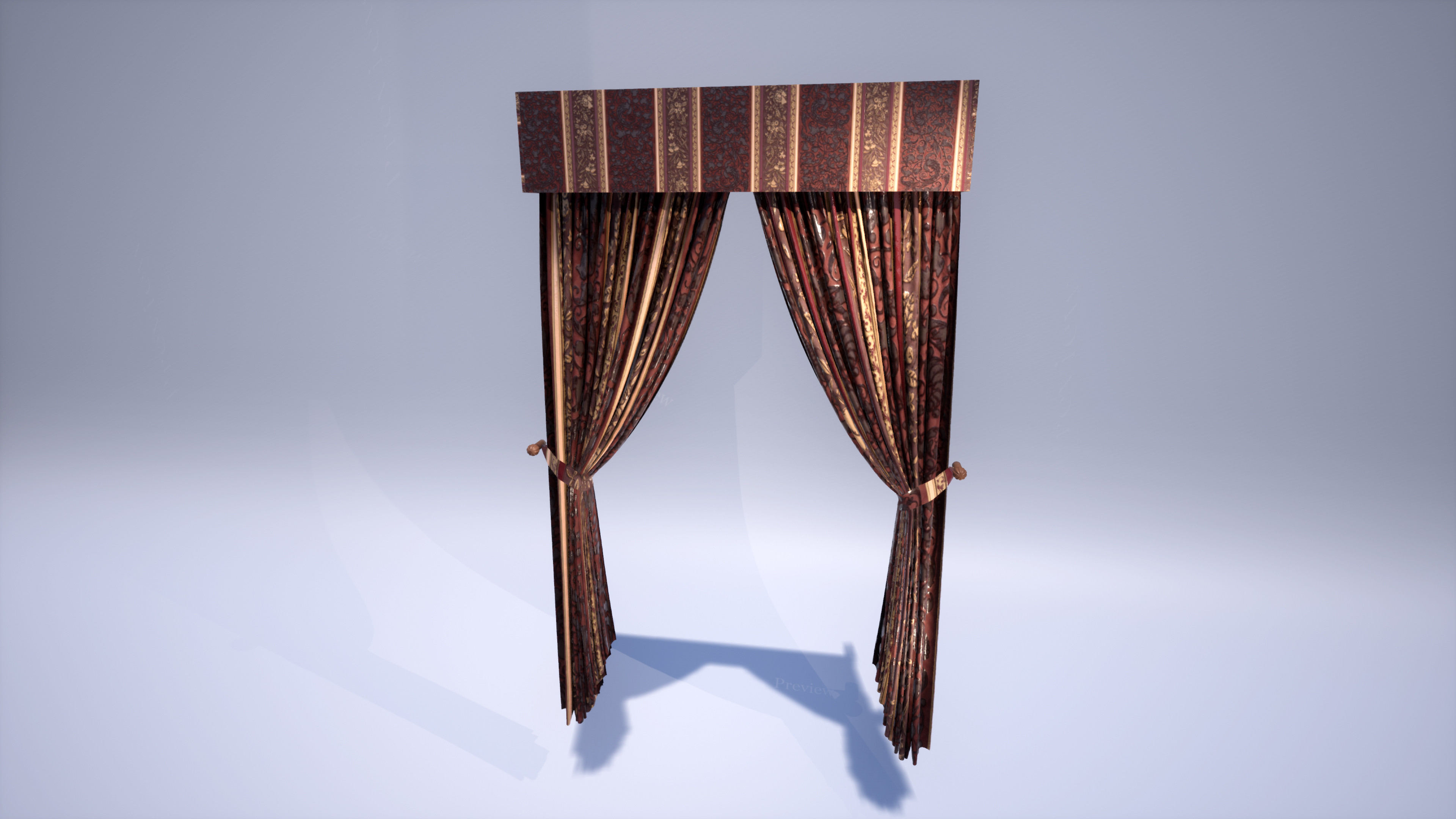 Curtains made in Marvelous Designer