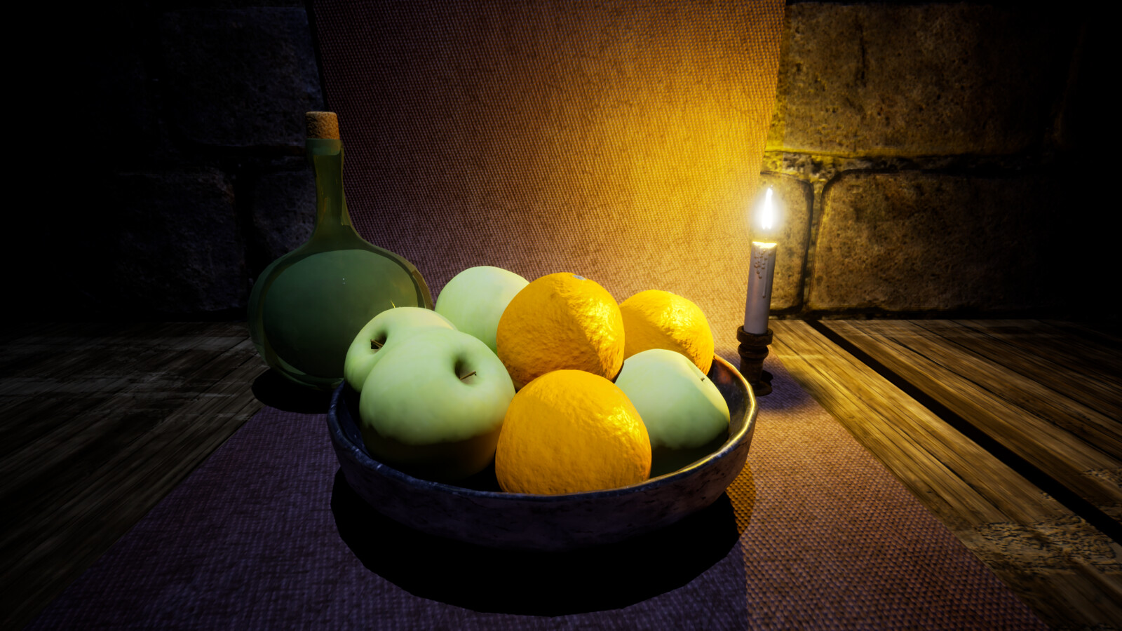 Material used as wood table applied in Unreal Engine 4.