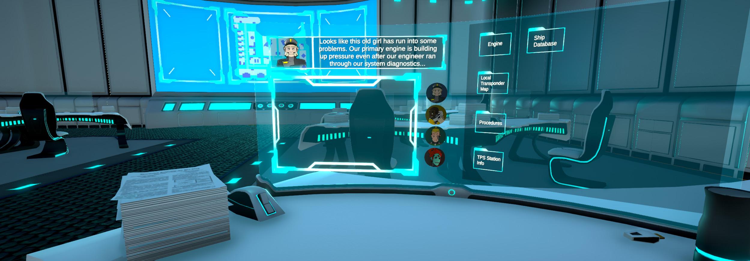 Screenshot  during NPC interaction.