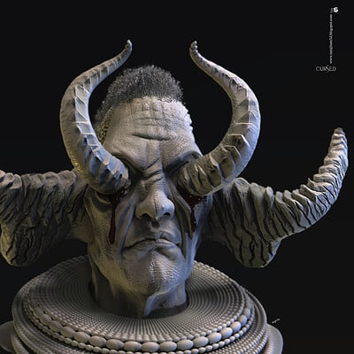 Surajit sen cursed digital sculpture surajitsen may2020