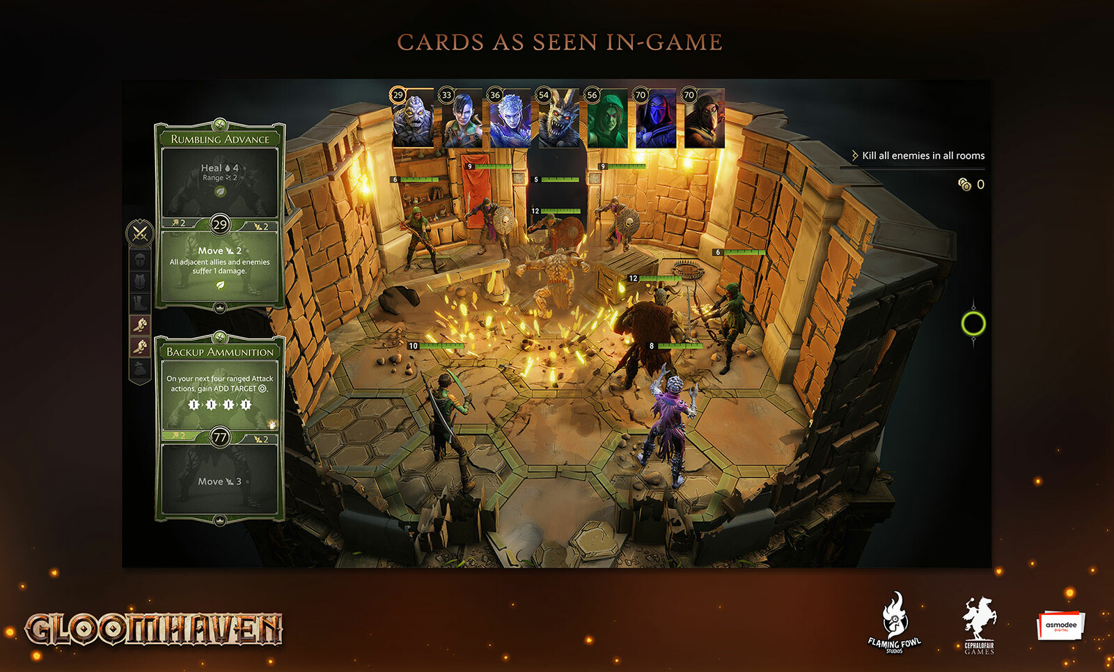 Example of cards in game.