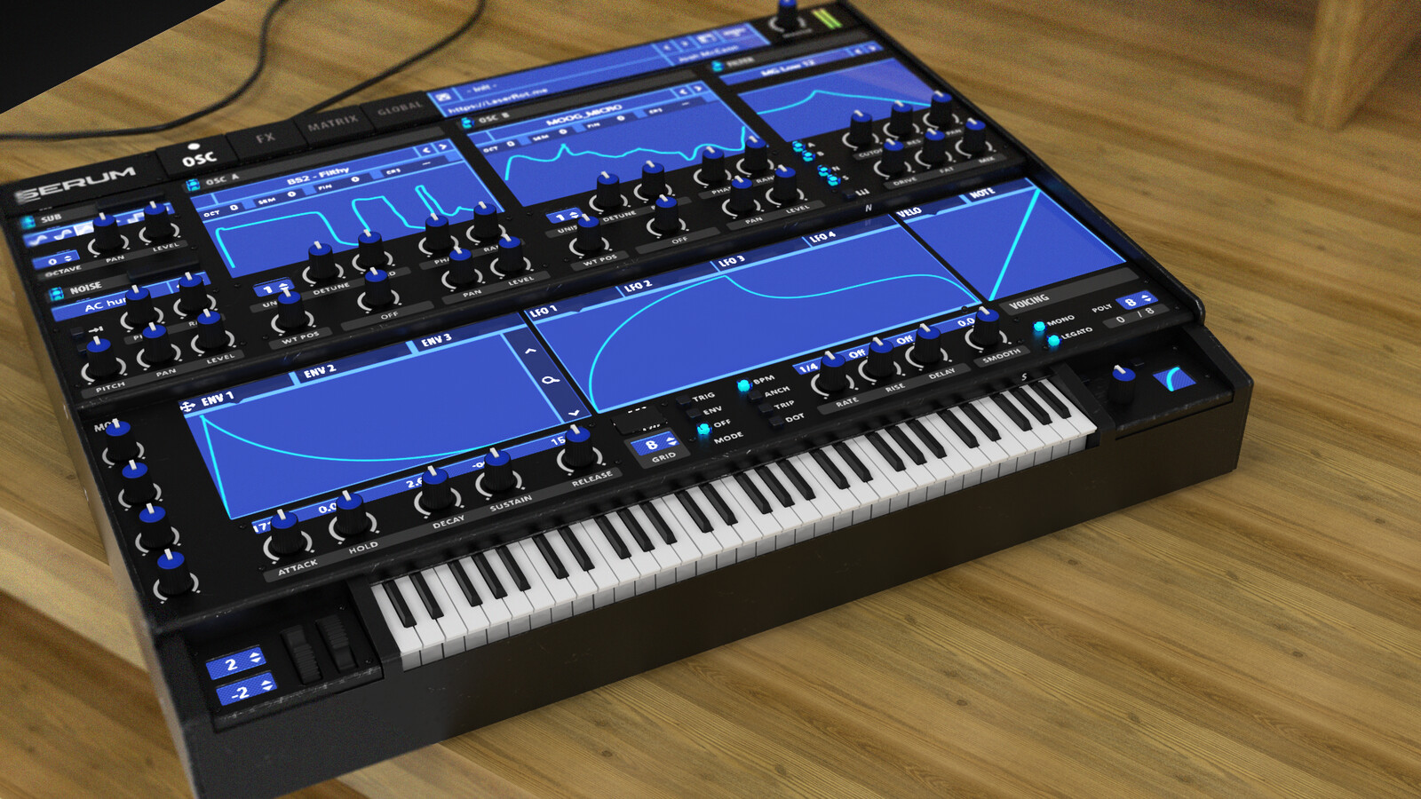 Serum Virtual Synth Modeling and TexturingThis