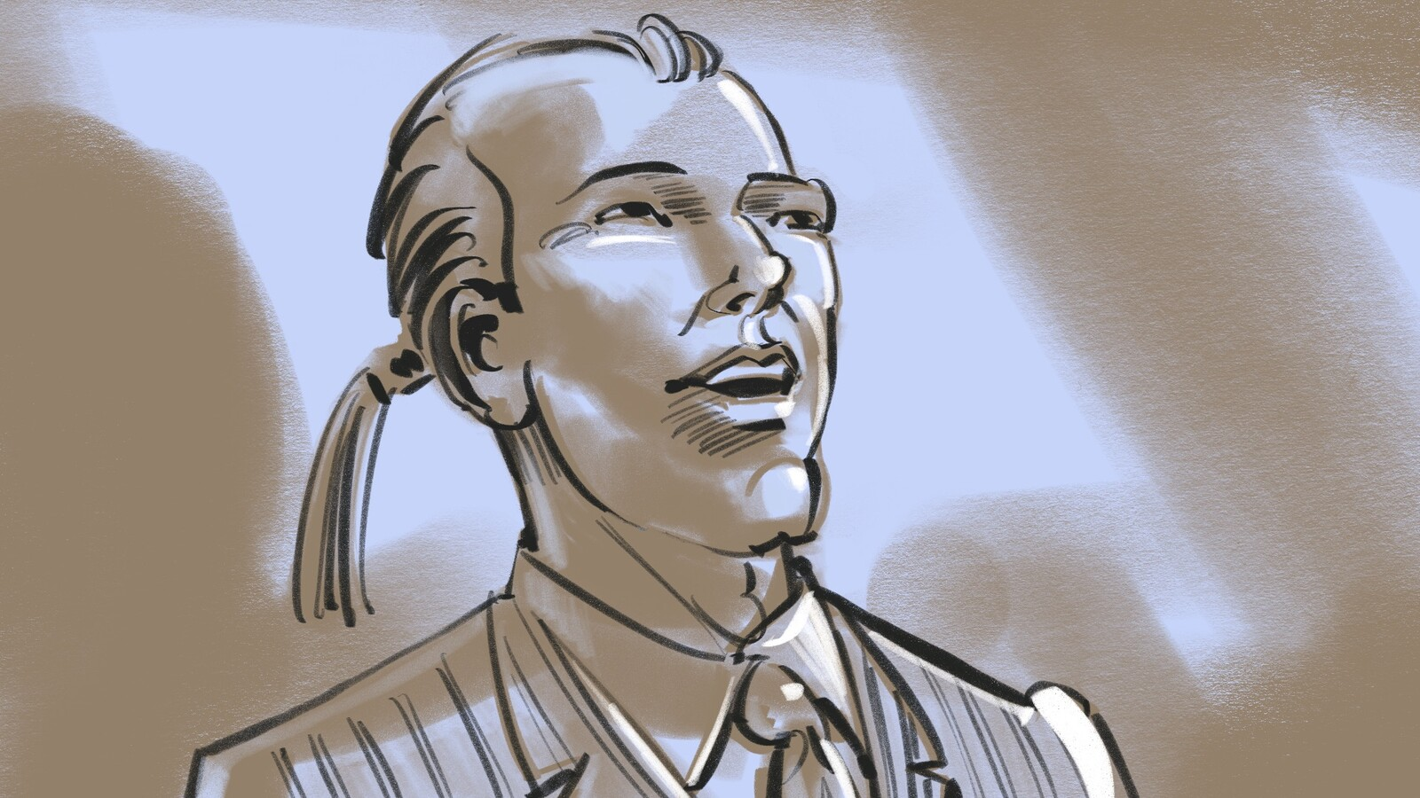 FRAME #47-CU-Med-Floating: INT. Raek greets him with a magnanimous smile.
