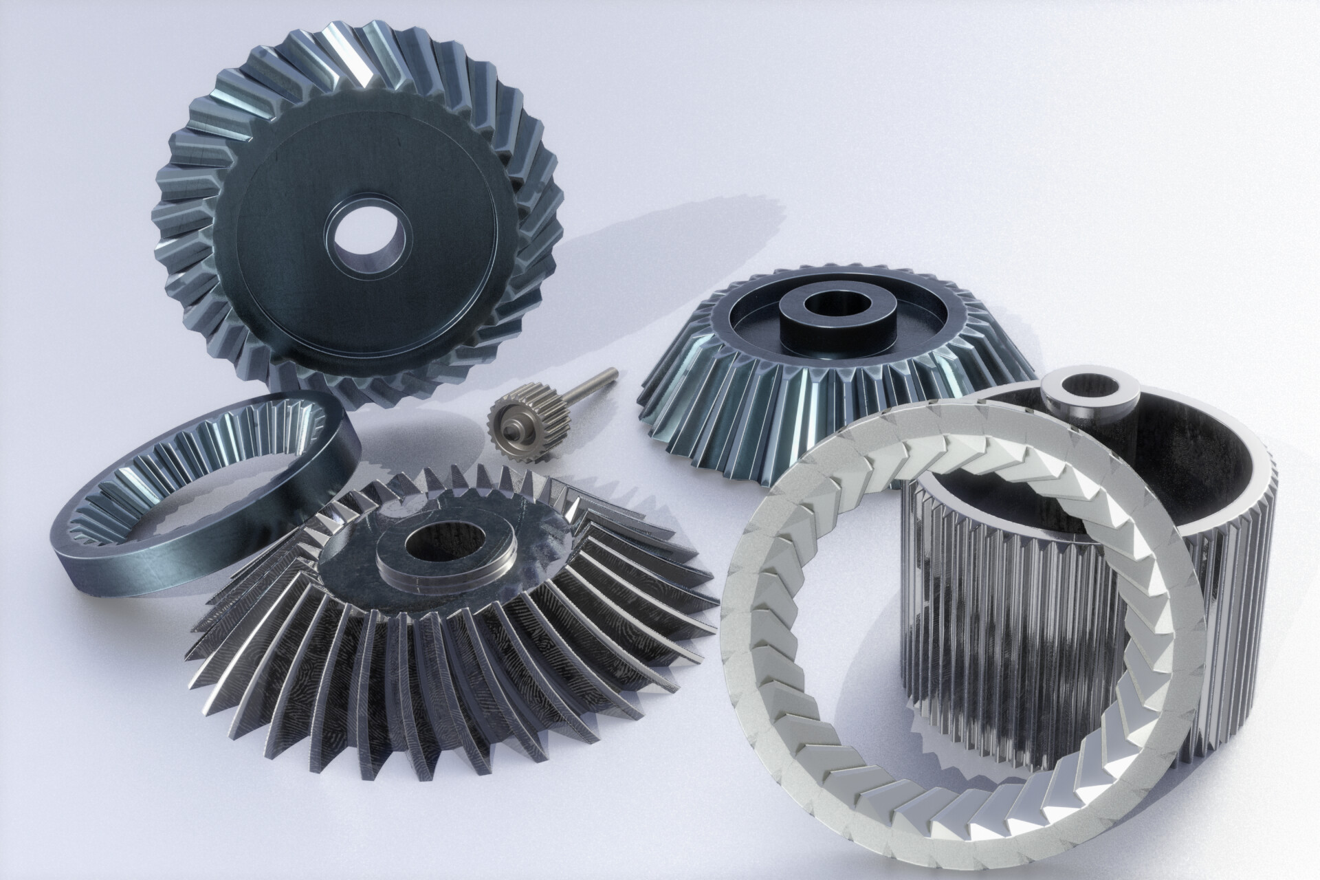 Procedural gears with all procedural texturing from a long time ago!