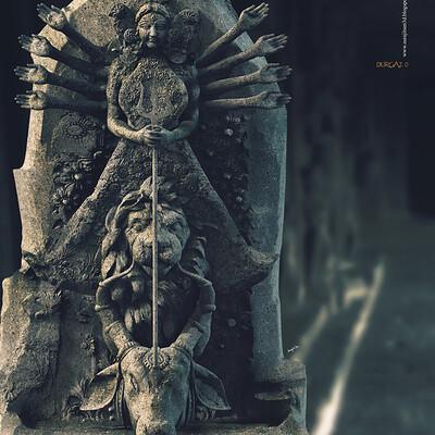 Surajit sen durga2 0 digital sculpture surajitsen may2020a