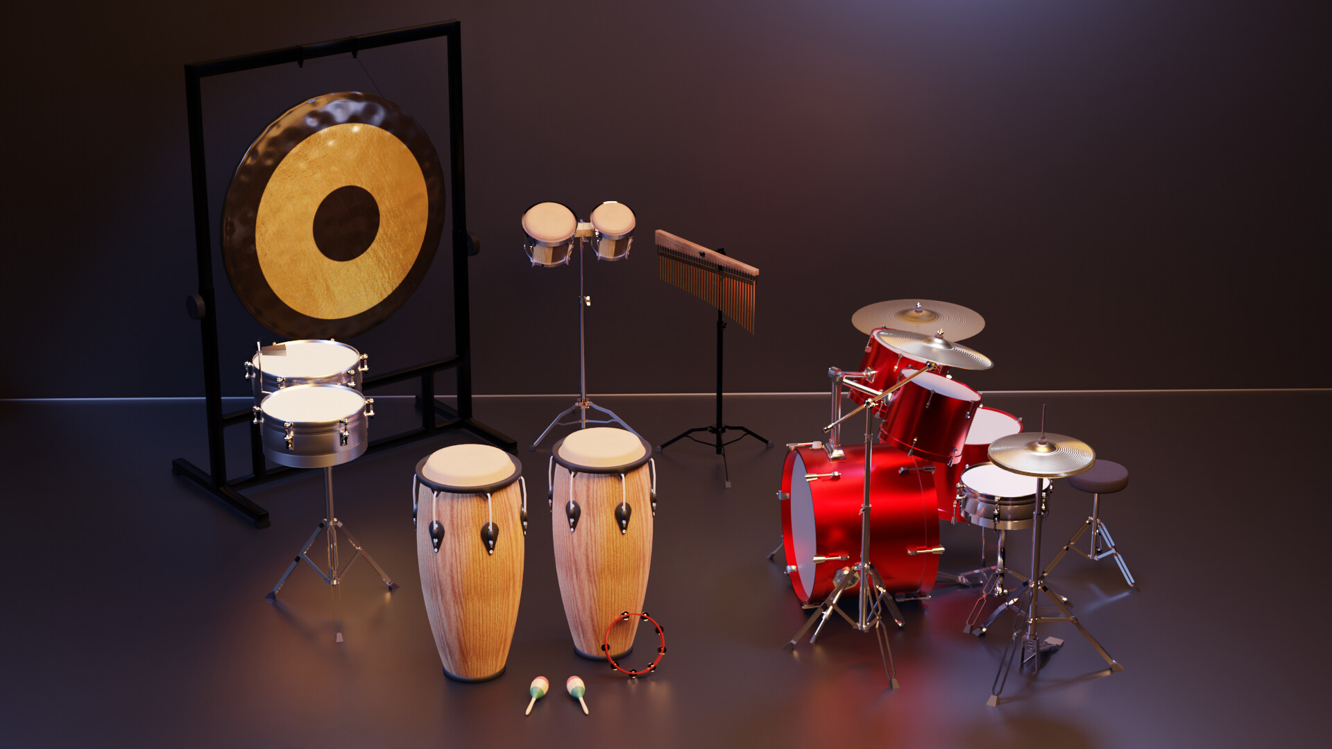 Percussion Set - game assets