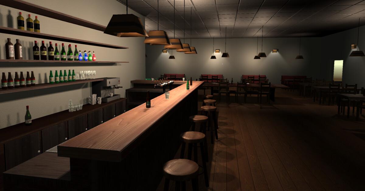 Cozy Cafe / Bar - game assets