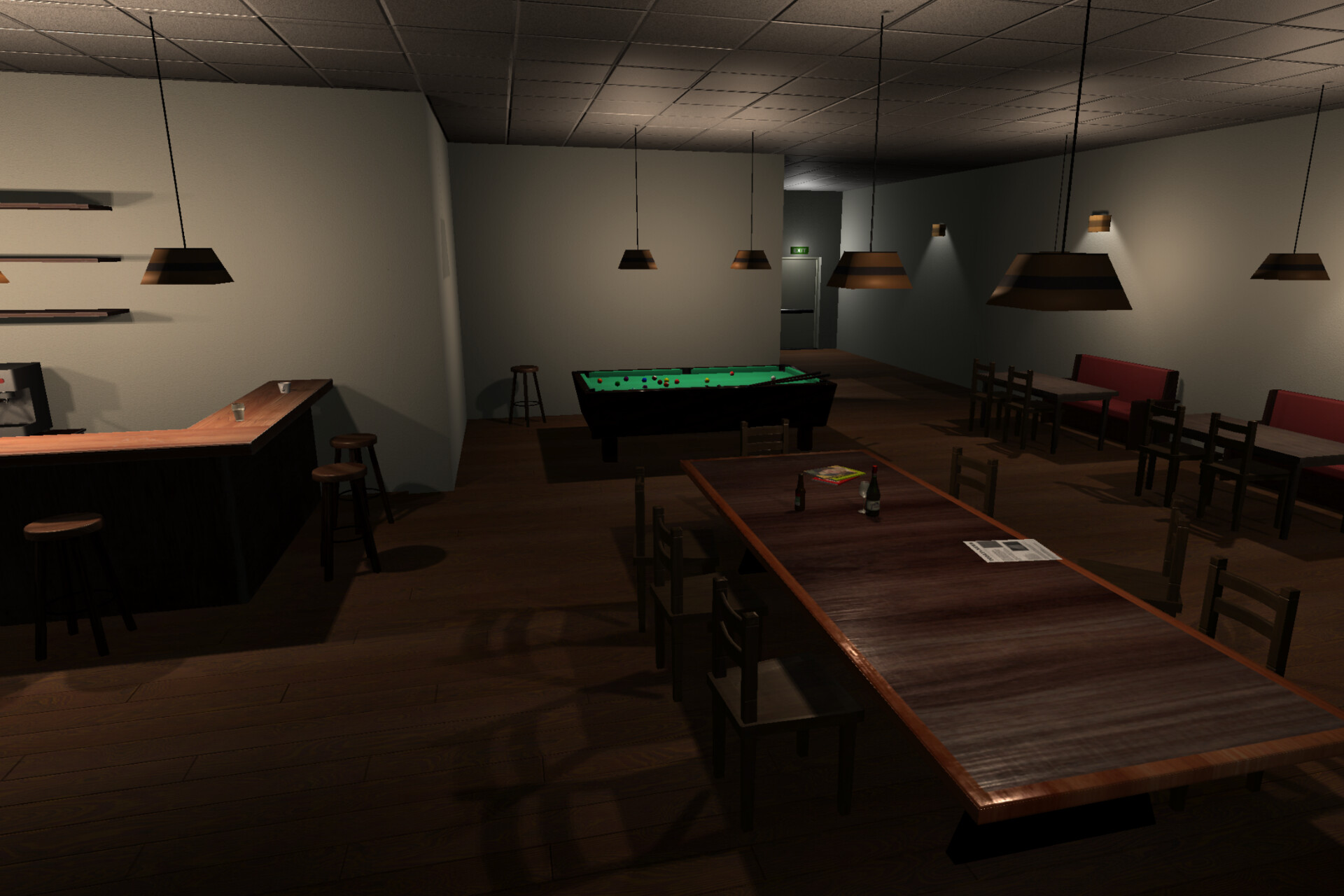 Cozy Cafe / Bar #2 - game asset