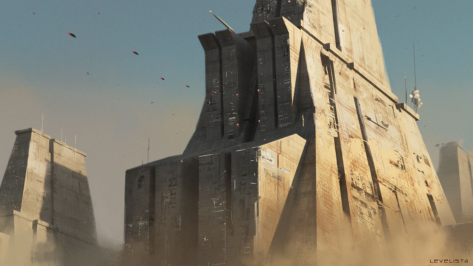 Megastructures inspired by Paul Chadeisson