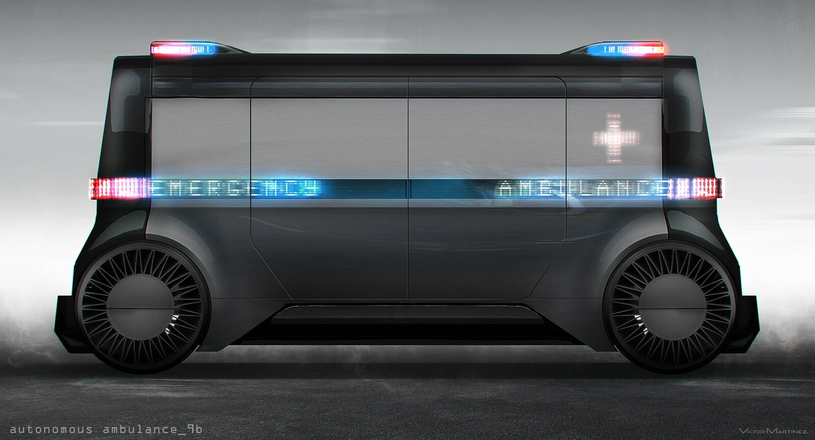 Westworld Autonomous Ambulance (early concept) - designed by Victor Martinez