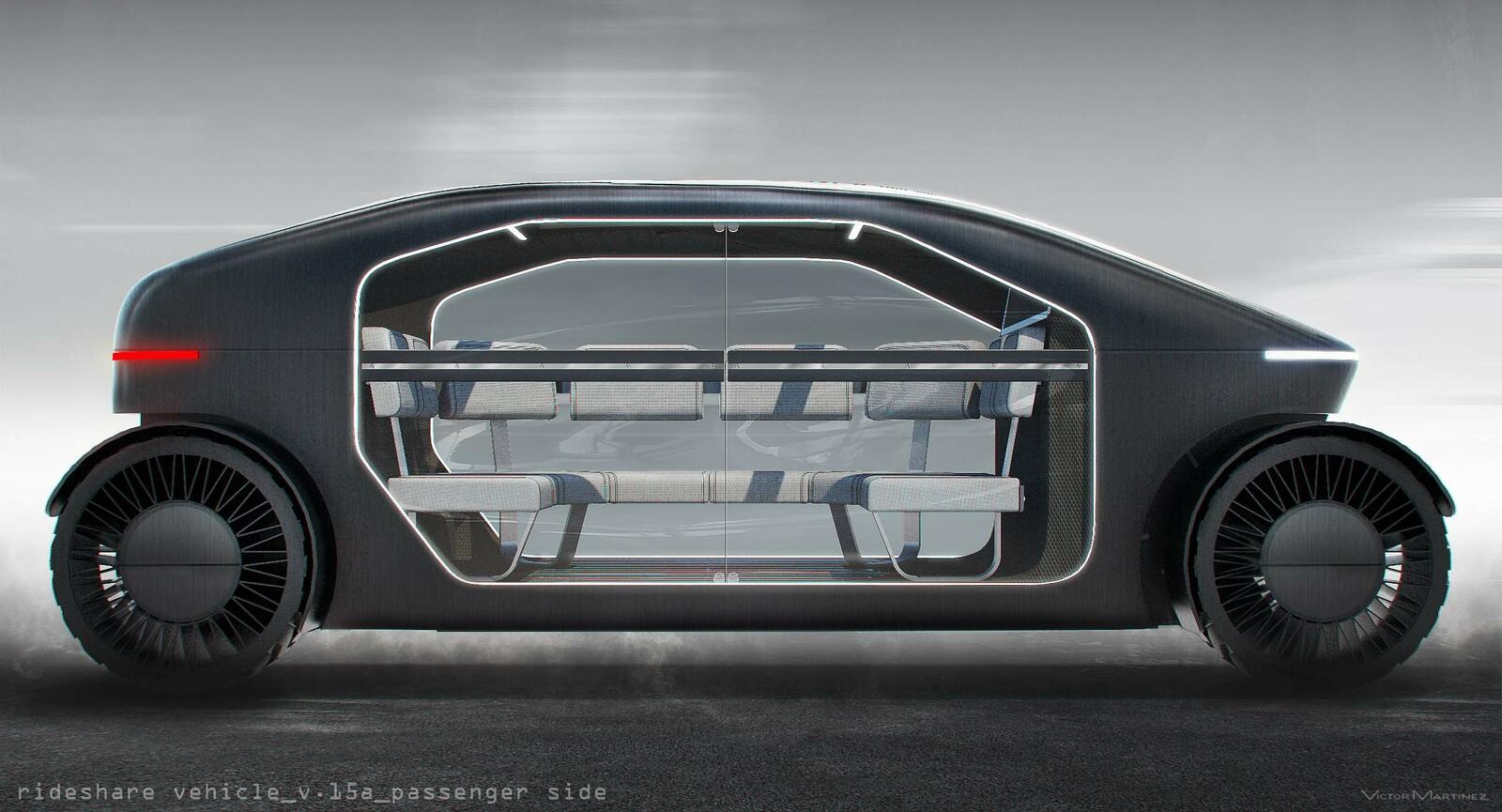 Westworld Autonomous Rideshare Vehicle - designed by Victor Martinez