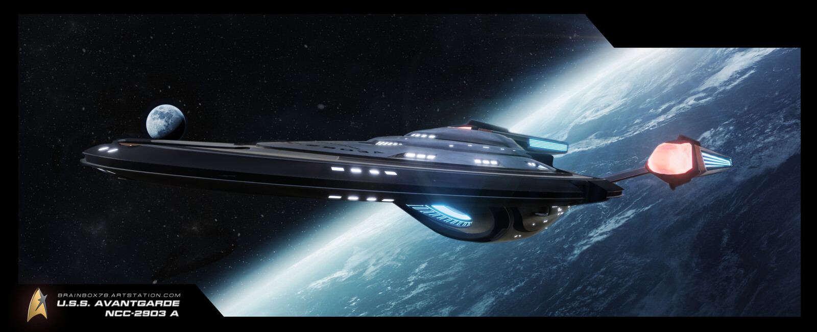 Another Wallpaper of the U.S.S. AVANTGARDE NCC-2903 A
