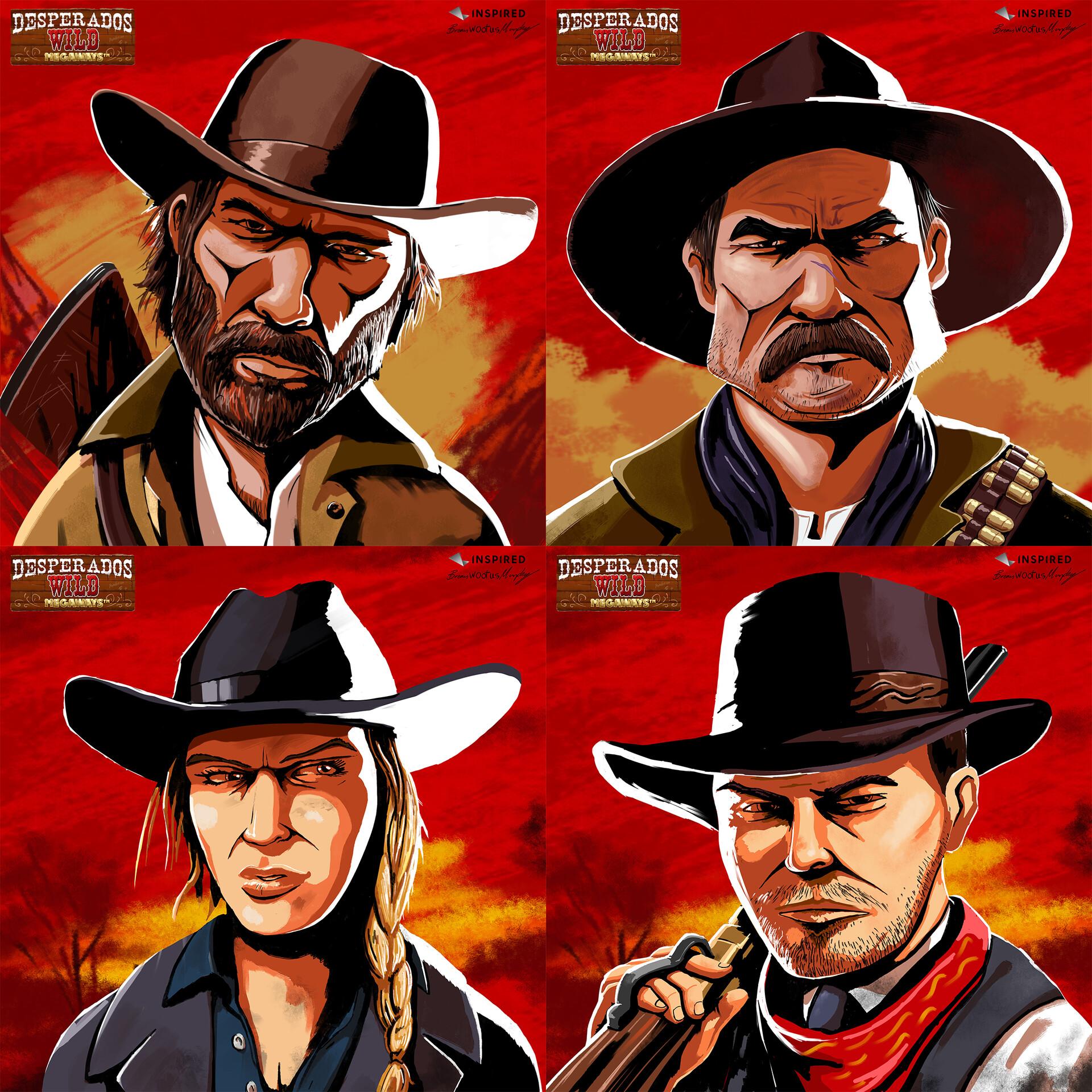 Artstation Desperados Wild Cowboy Characters Brian J Murphy