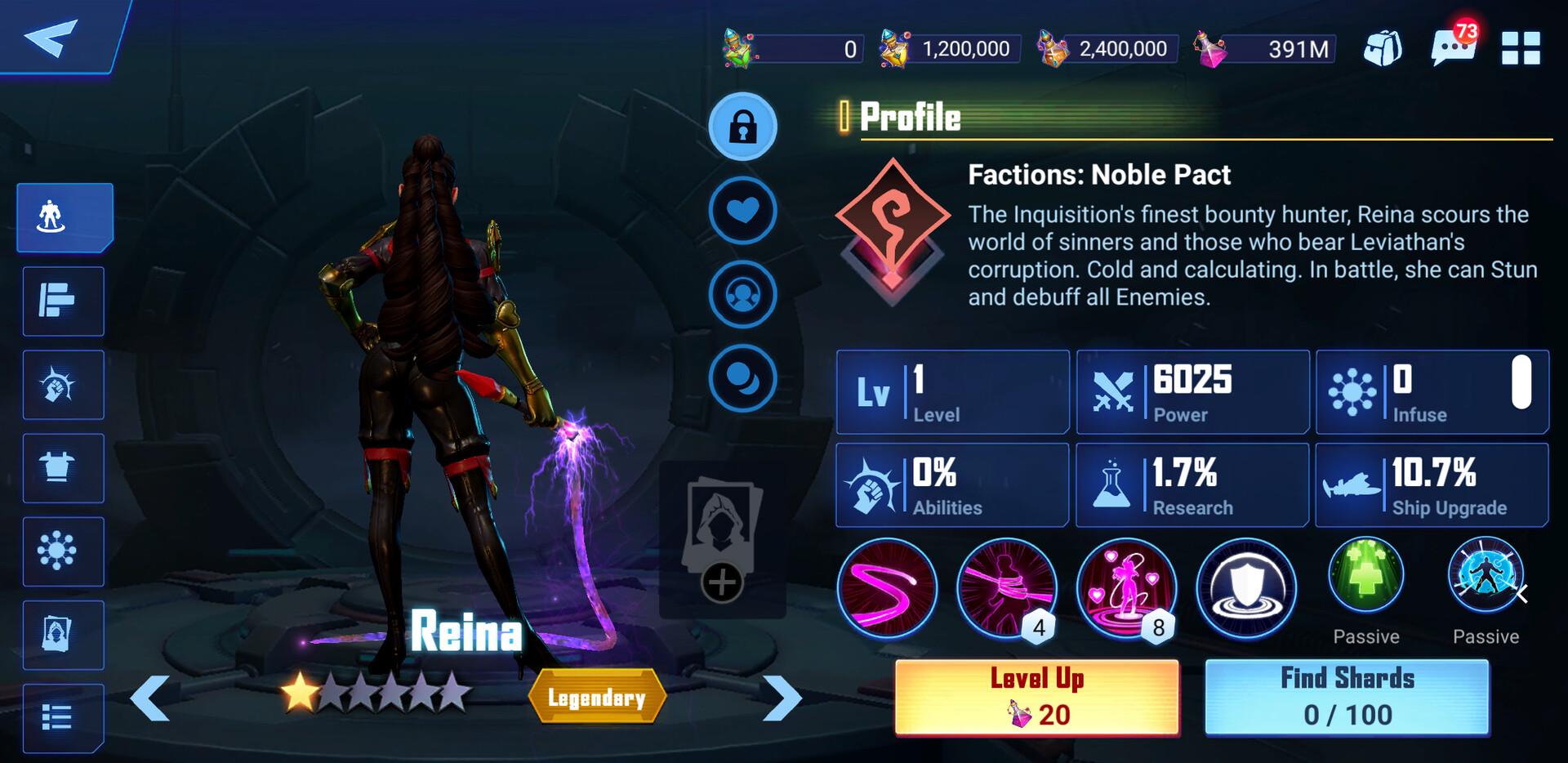 Reina in-game shot