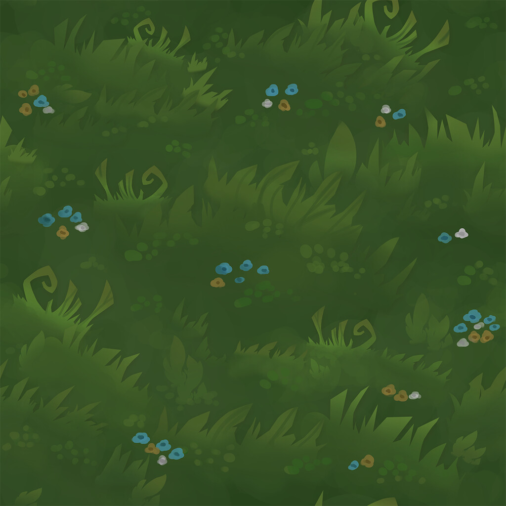 Hand-Painted/Tiling Grass Texture