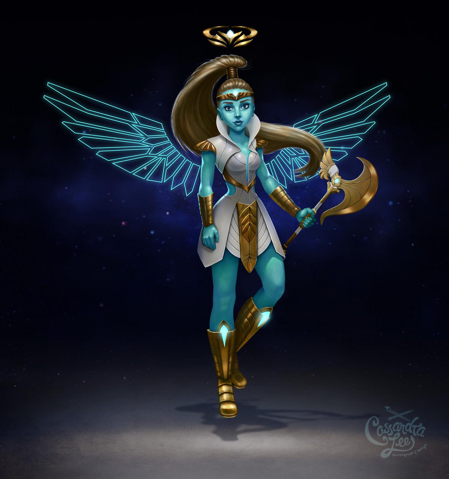 Seraphina Warrior Angel Character Painting