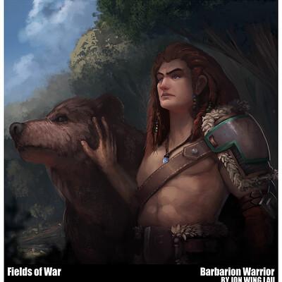 Jon wing barbarion warrior