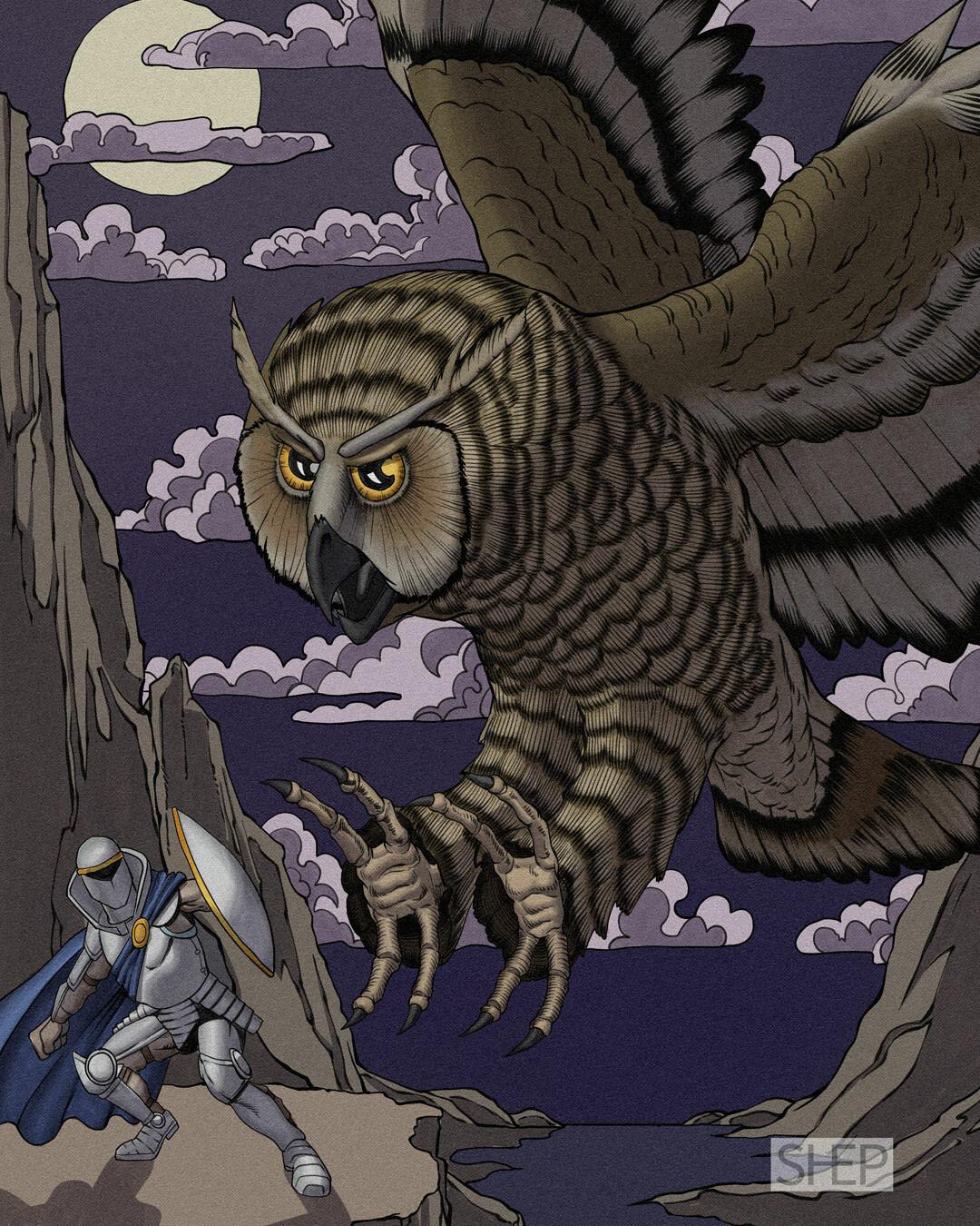 Giant Owl - D&D Monster