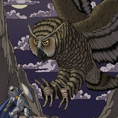 Robert shepherd giant owl rendered