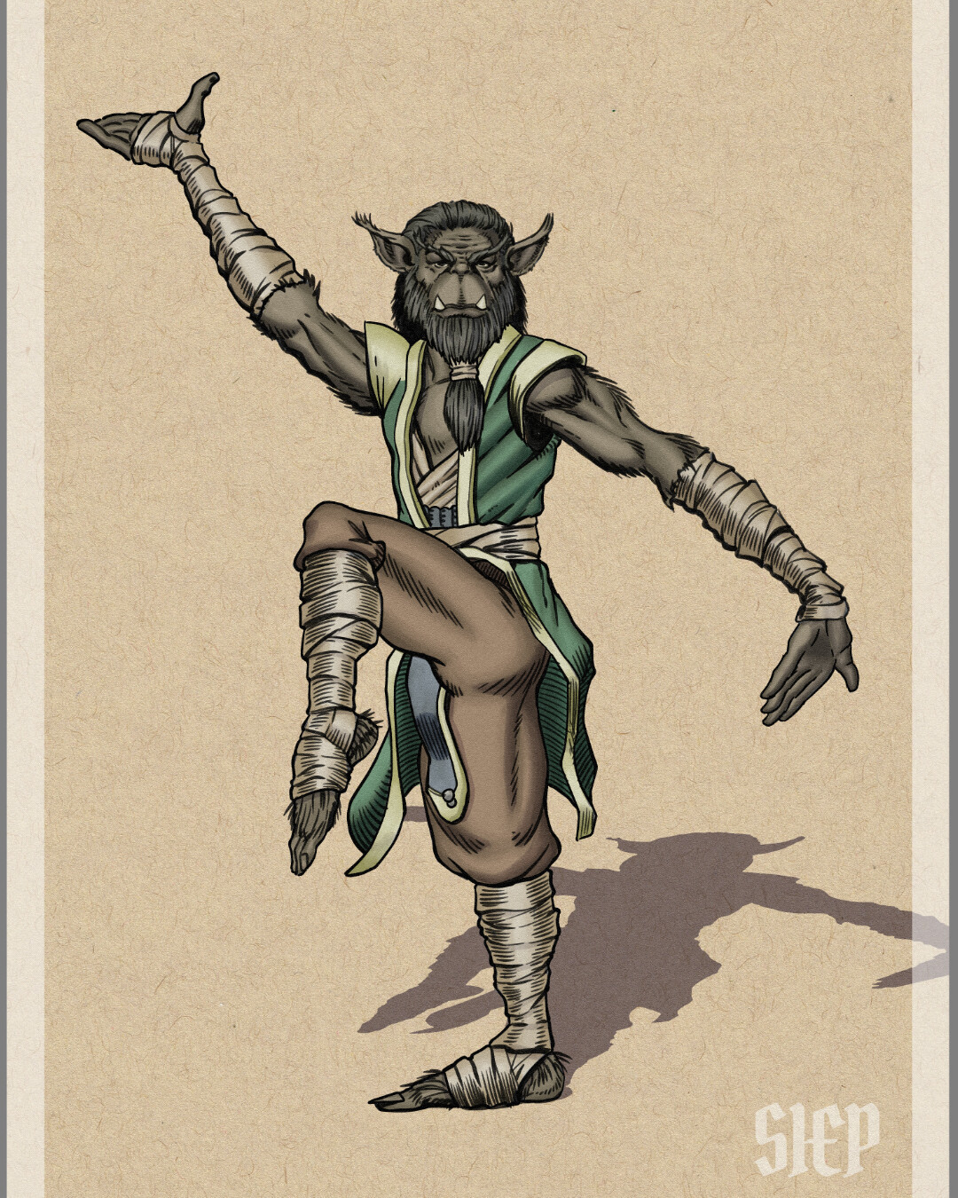 Bugbear Monk - D&D Character