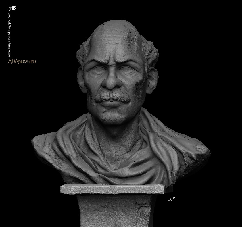 Abandoned Digital Sculpture Tried to make a form of my thoughts. My free time study. Background music- #hanszimmermusic