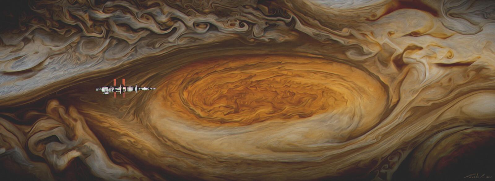 Above Jupiter cloudscape