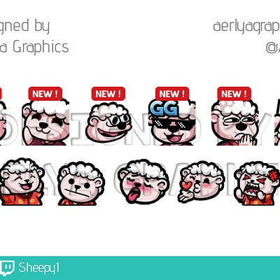Aerlya graphics sample emotes