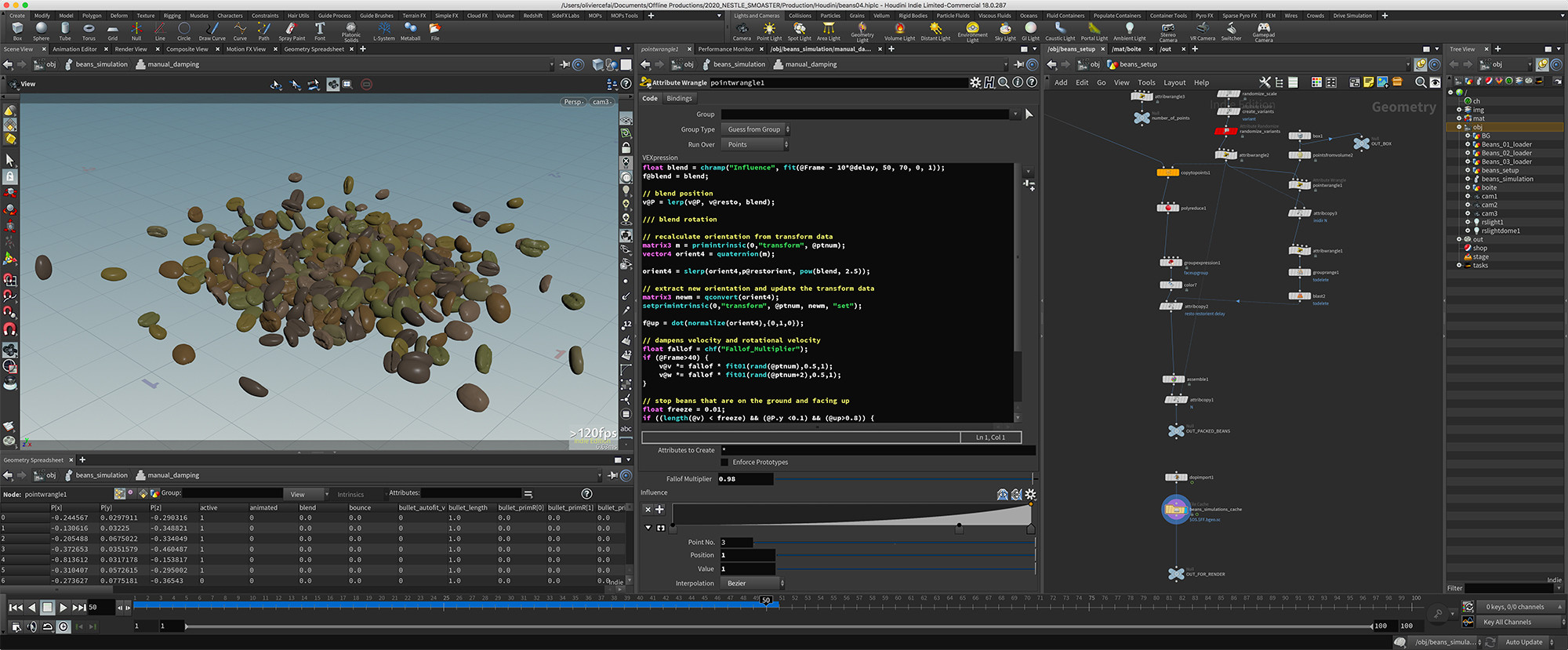Simulation and rendering