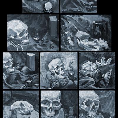 Hannah sayre foliopaintings 2020 skulls