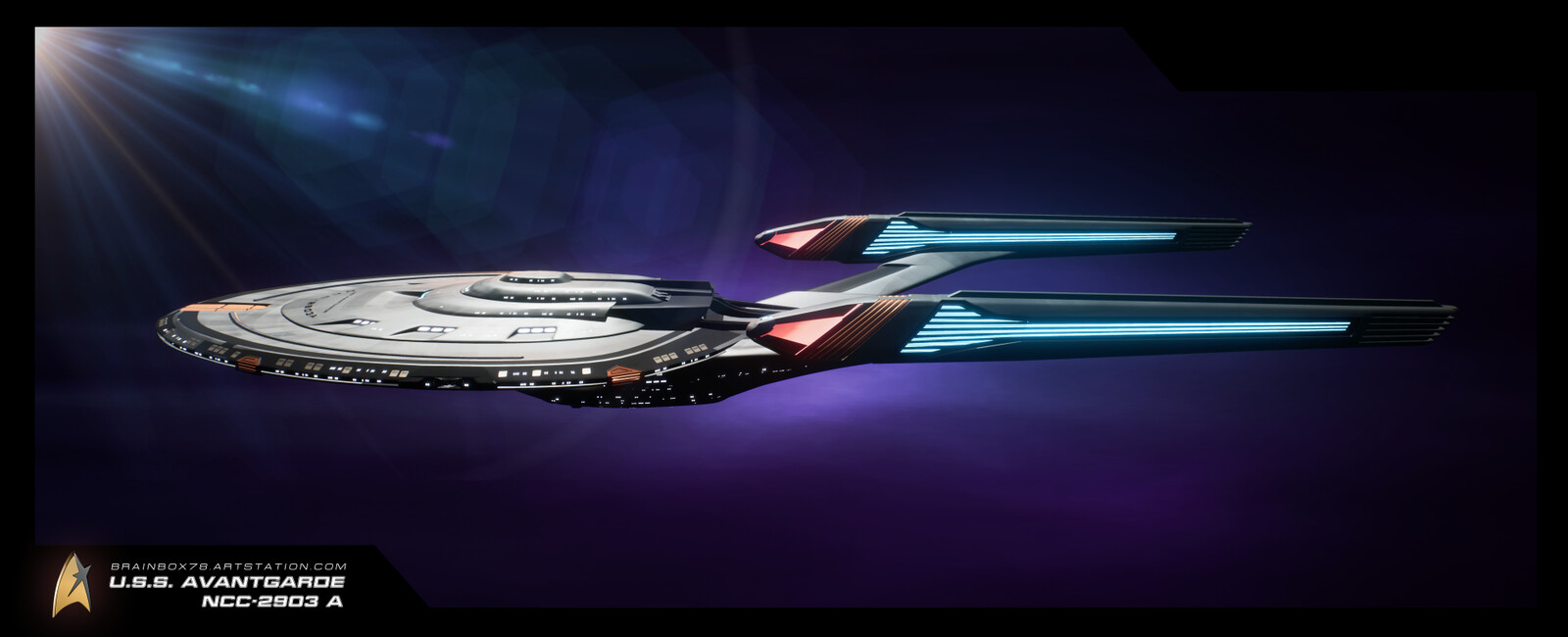 Wallpaper U.S.S. AVANTGARDE NCC-2903 A