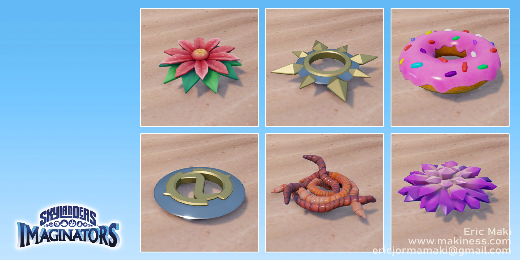 Create Your Own Skylander Throwing Weapons