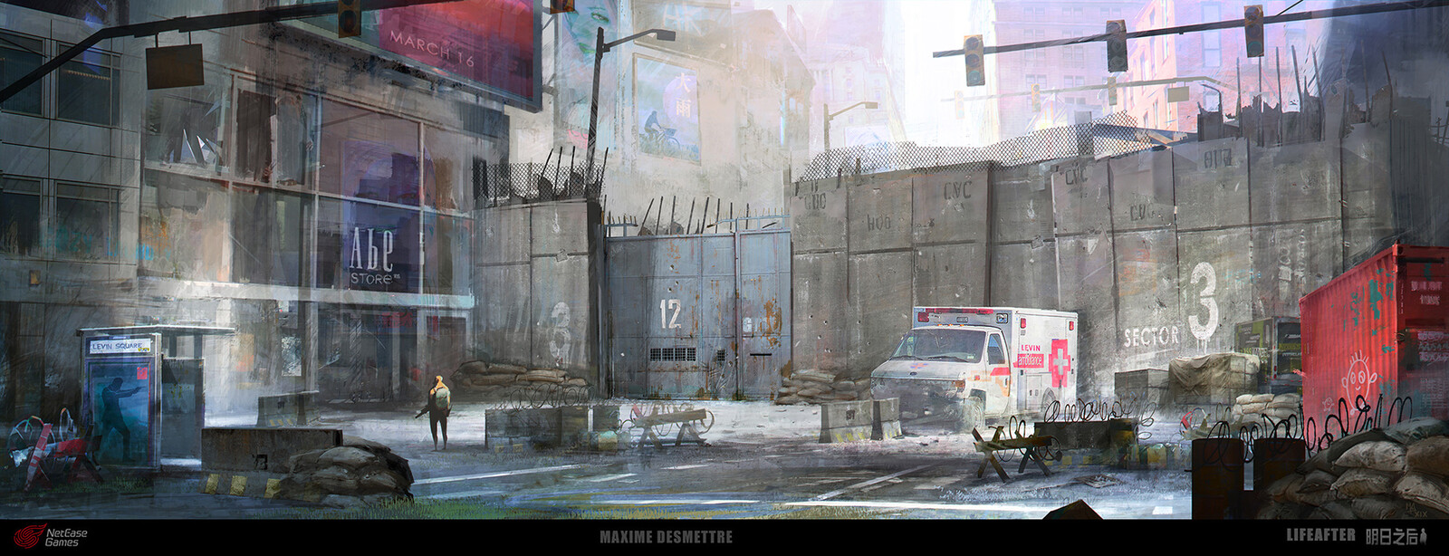 Life After - Security Gate Concept Art (2019)