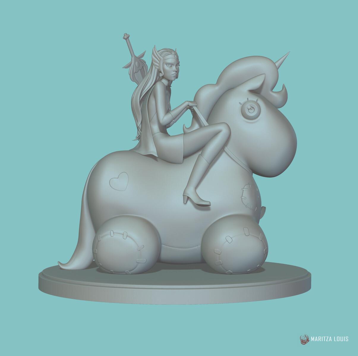 SheRa Speed Sculpt | Pony Troubles | Maritza Louis | GreyScale