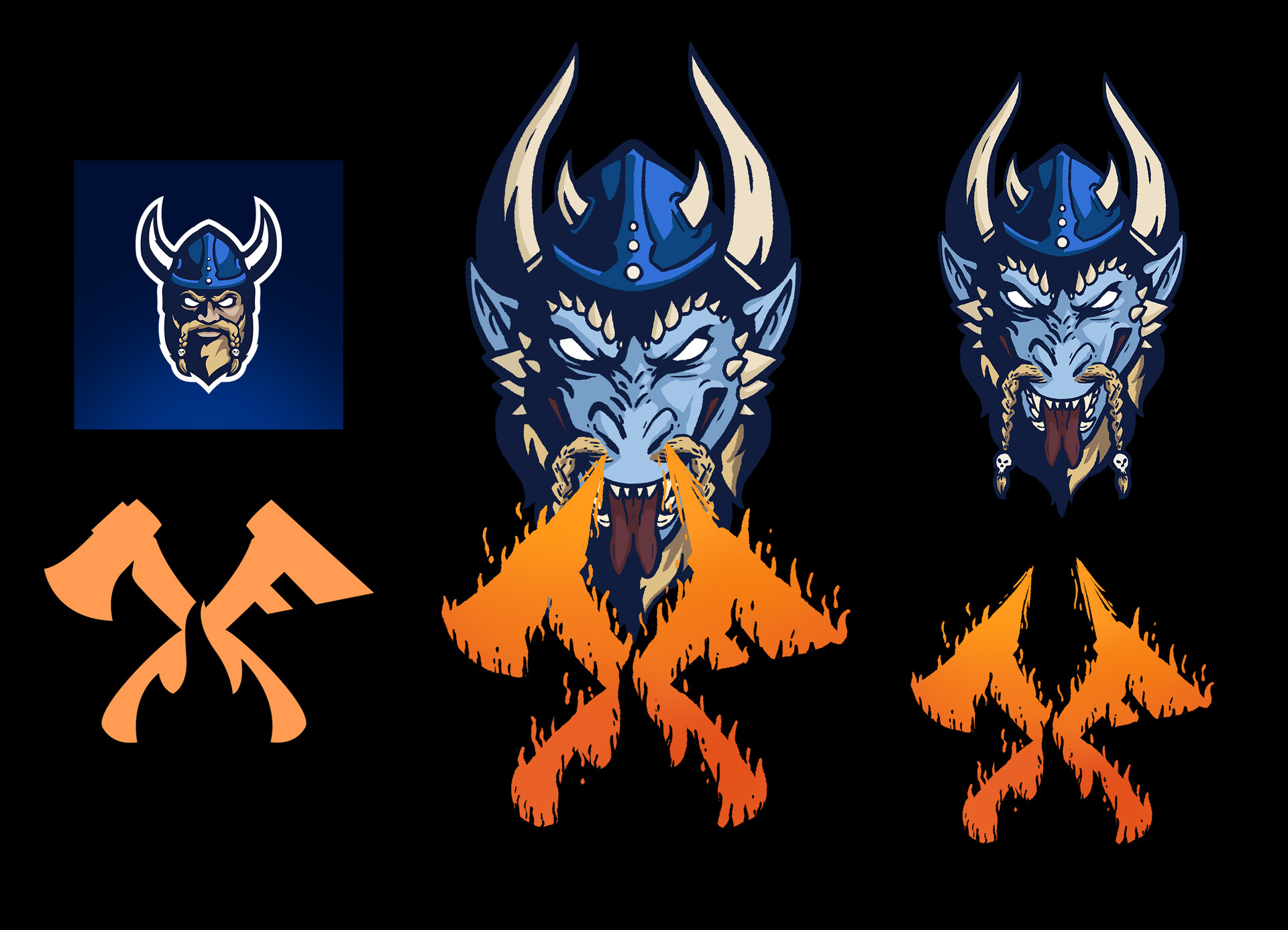 For esports org Fury, they worked with me to re design their pre existing logos (two left designs) for part of a temporary re branding on April Fools 2020.