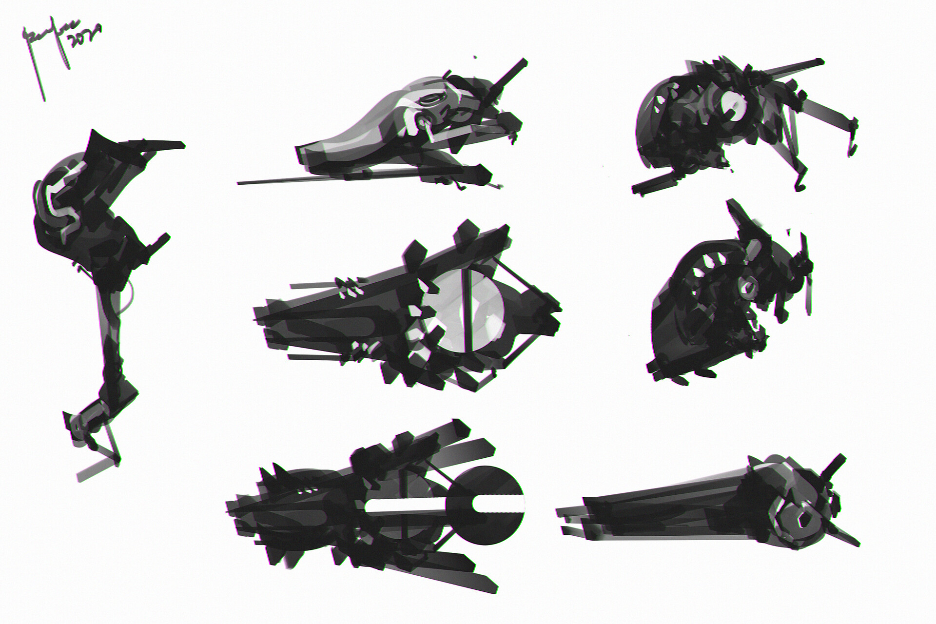 agile space fighters - concept designs
