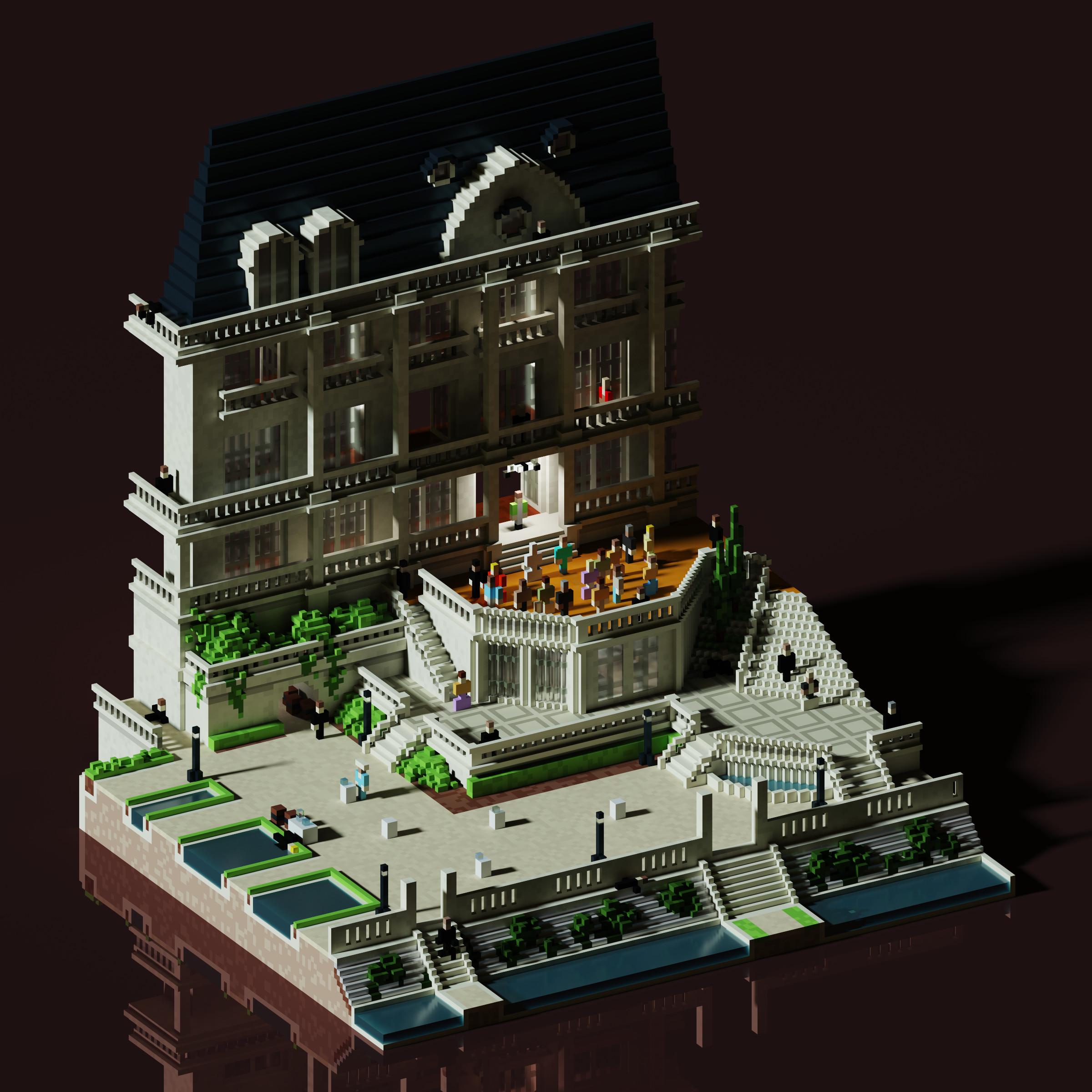 The Last Yardbird MagicaVoxel render - May 2020
