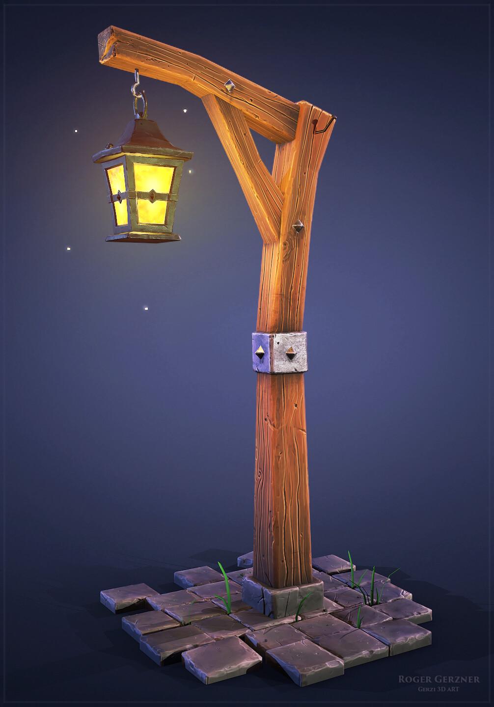 Stylized Lantern Pole