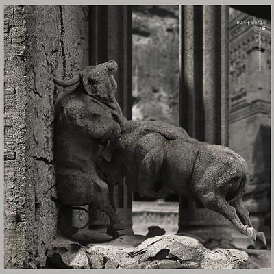 Surajit sen bull fight2 0 digital sculpture surajitsen may2020a