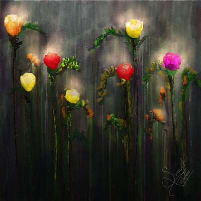 Surajit sen wishes digital canvas painting surajitsen may2020
