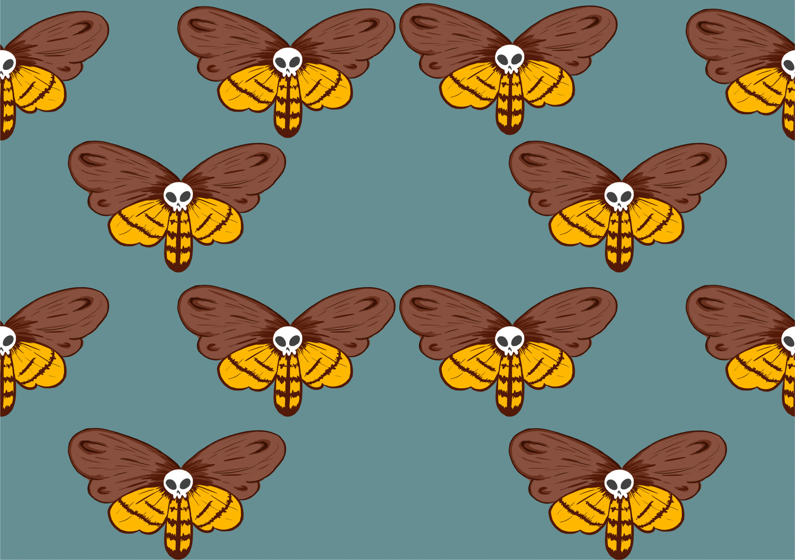 Deaths head moth repeat tile