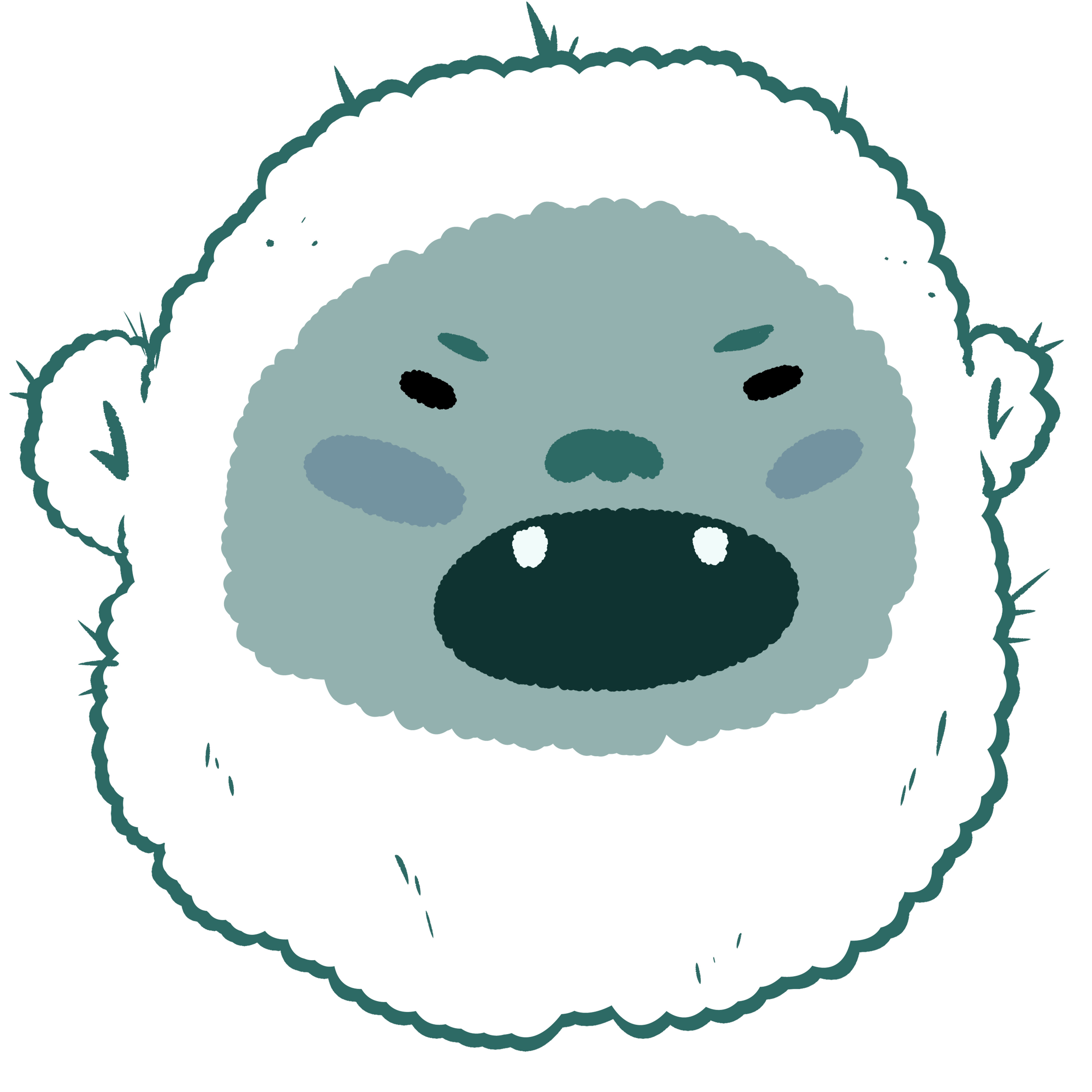 Here's a little yeti I made for my last uni project, it's a little yeti/abominable snowman!