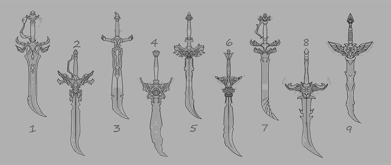 Weapon design thumbnails