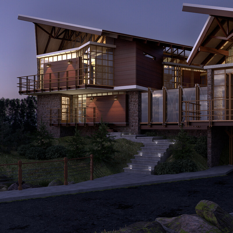 Cabin House Renderings