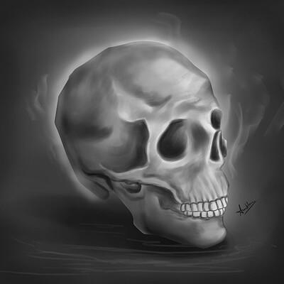 Amit kumar skull greyscale