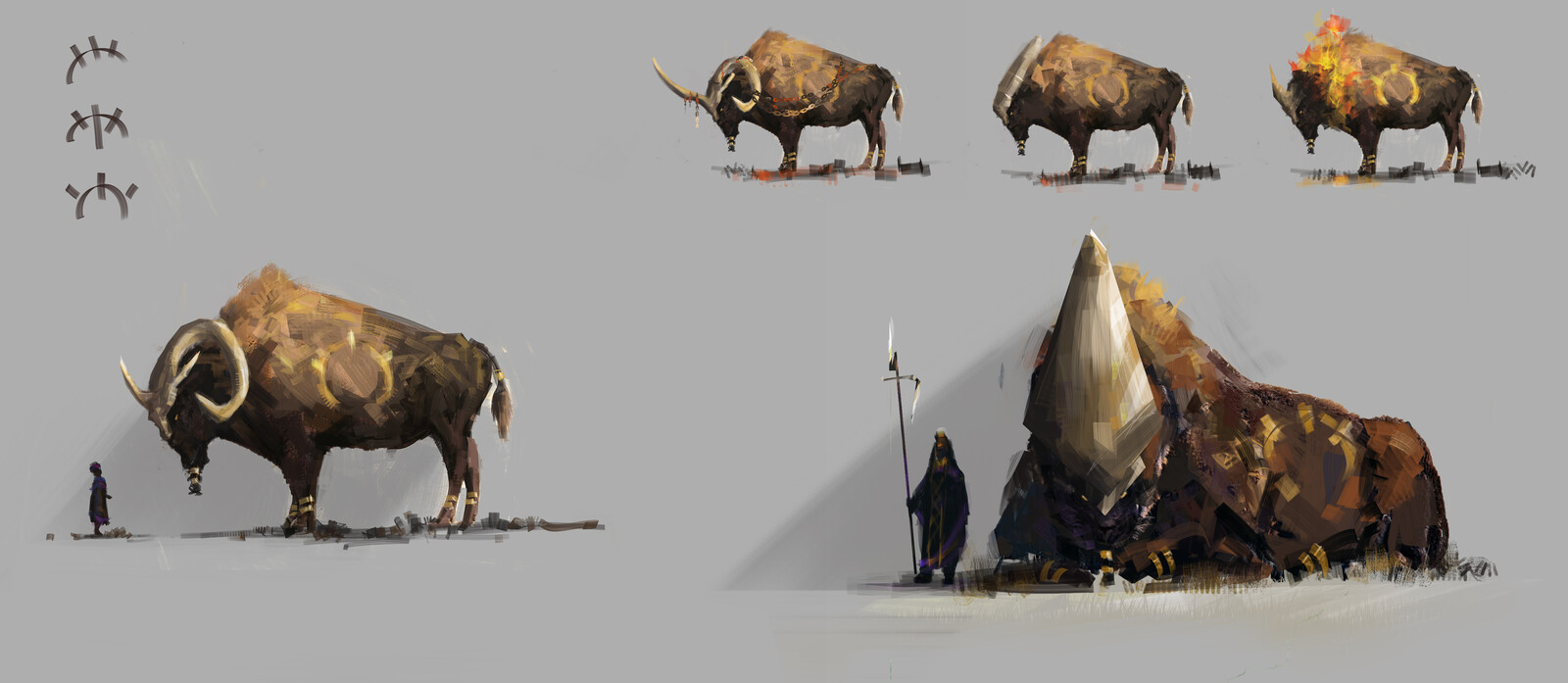Lion/Bison creature concept
