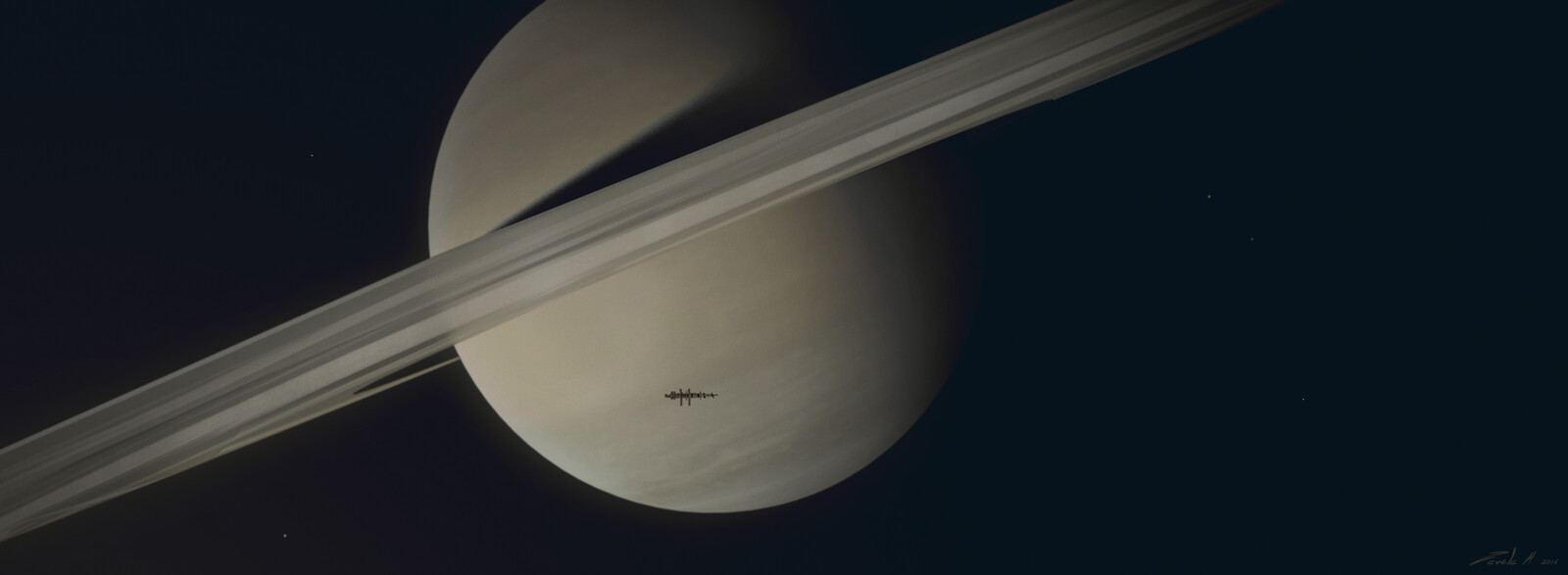 Over Saturn's Rings