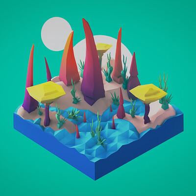 Andra perju alien diorama exotic